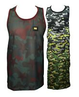 Mens Camouflage Army Mesh Vest Combat Men Tank Top Military Fashion Urban Camo