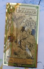 2020 ONE NEW HAMPSHIRE GOLDBACK Aurum Gold Foil Note - 24K gold 1/1000 oz.