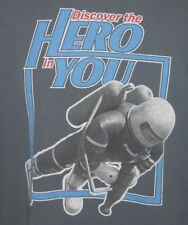 Vintage Microsoft 'Discover the Hero in You' Tshirt Men's sz XL Gray     #1764