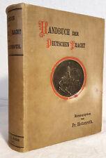 1892 Buch deutsche s Tracht Trachten Kleidung Waffen Krone Reich Germanen Antik