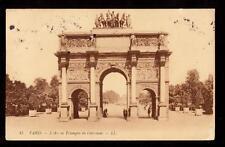 1910 l'arc de triomphe carrousel paris france postcard