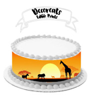 africa , cake image, cake strips, cake wrap, cake boarder, edible cake topper,