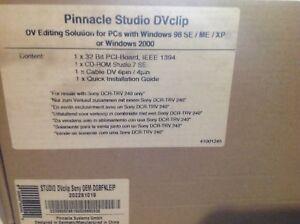 PINACLE STUDIO DV CLIP NEUF EMBALLAGE D'ORIGINE 12€ (livraison offerte)
