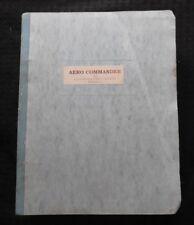 Véritable 1977-80 Rockwell 700 Commander Avion Parties Catalogue Manuel Très Pur