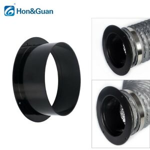 """Hon&Guan 4''/5""""/6'' ABS Straight Pipe Flange Ventilation Ducting Connectors"""