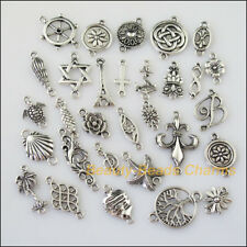 30 New Connectors Tiny Mixed Lots of Tibetan Silver Tone Charms Pendants