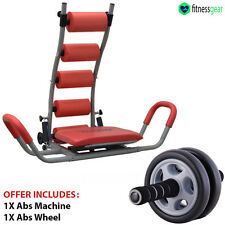 Ab Abdominal Rocket Twister Crunches Exercise Machine Gym Fitness With Ab Roller