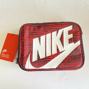 Nike Kids Lunchbox Red Zip Around Insulated Adjustable Strap New