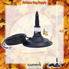 "46"" Big Base Magnetic Mount Tram Spring Antenna for Garmin Alpha & Astro 2pc BNC"