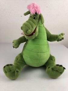 "Disney Store ELLIOT Pete's Dragon Classic Pink Green Plush Stuffed Toy 14"""