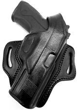 "TAGUA Right Hand Black Leather Thumb Break OWB Belt Holster BERETTA PX4 STORM 4"""