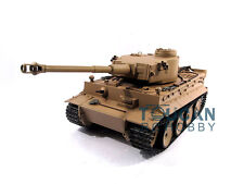 100% Metal Mato 1/16 Tiger I RTR RC Tank Model Infrare Barrel Recoil Yellow 1220