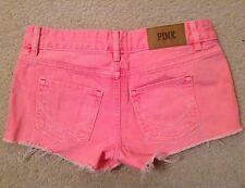 EUC! Womens Victorias Secret Pink Cut Off Denim Shorts Sz 0