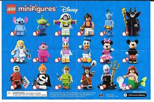 LEGO DISNEY 71012 MINIFIGURES SERIES 1 - COMPLETE SET - NEW