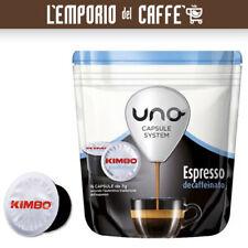 96 Capsule illy Kimbo Uno System Indesit miscela Decaffeinato -100% Originali