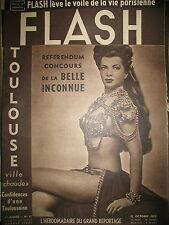 FLASH N° 37 TOULOUSE VILLE CHAUDE SAINT GERMAIN-DES-PRES PIN-UP REPORTAGES 1950