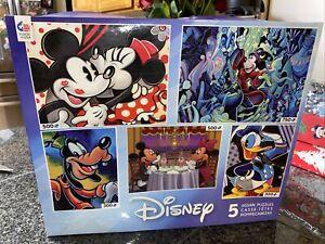 DISNEY 5 Jigsaw Puzzles NEW Fantasia Donald Duck Mickey & Minnie Ceaco