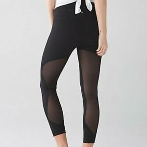 Lululemon NEW with Tag Most Popular BLACK High Times *SE Minimalist - Size 6