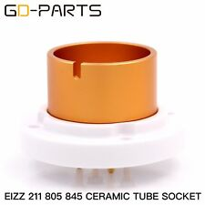 1xEIZZ High End 4 Pin JUMBO Bayonet Ceramic Tube Socket for 845 211 805 FU5 810