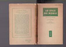 Terisio Pignatti, Lo stile dei mobili dall'antichità ad oggi, Mondadori 1951 R