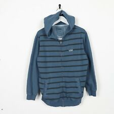 Vintage Kids VANS Small Logo Striped Hoodie Sweatshirt Blue Large L