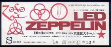 LED ZEPPELIN REPRO 1972 TOKYO BUDOKAN HALL CONCERT TICKET 3 OCTOBER