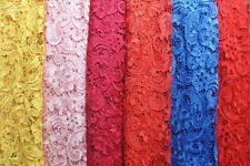 "51"" Wide Guipure Embroidery Wedding Lace Fabric Floral Bridal Lace Fabric 1 Yard"