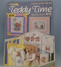Leisure Arts Teddy Time Counted Cross Stitch Leaflet #2754 Nursery Ginny Fraser