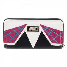 Marvel Spider-Gwen Womens Zip Around Wallet Clutch Purse - Officially Licensed!