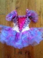 Dance Halloween Costume Pink Tinkerebell Fairy Pageant Ballerina Tutu Fits 2-3