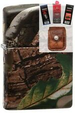Zippo 28263 realtree apg camoflage Lighter + FUEL FLINT WICK POUCH GIFT SET