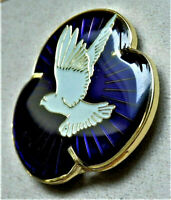 2020 Brand New Remembrance Enamel Purple Popp.y Pin Badge Animals At War , Great
