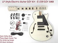 Set Neck Electric Guitar DIY Kit,Semi-Hollow Body,No-Soldering E-239 DIY SMB