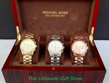 NEW MICHAEL KORS RUNWAY COLLECTION GOLD,ROSE GOLD,SILVER CHRONO. WATCH MK5683