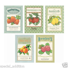 """NEW IKEA ART CARD VINTAGE SEEDS PRINT PACK OF 5 , SIZE: 10 X15 CM  4""""x 6"""""""