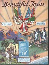 Beautiful Texas 1933 W Lee O'Daniel Governor of Texas Sheet Music