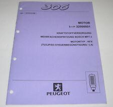 Werkstatthandbuch Peugeot 306 Motor Kraftstoffversorgung Stand Januar 1999!