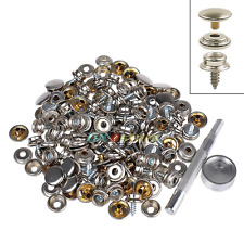 """150PCS Stainless Boat Marine Canvas Fabric Snap Cover Button & Socket Kit 3/8"""""""