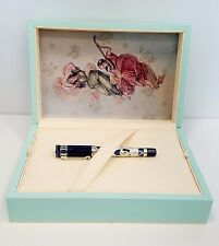 "MONTEGRAPPA ""Teatro Fenice"" Sterling Silver & Blue Rollerball Pen MSRP $5,000"