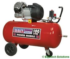 Sealey Tools SAC10030 100 Litre 100L 3HP Direct Drive Air Compressor V Twin Pump