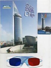 TARJETA TELEFONICA CHIP #500 URUGUAY CON FOLDER 3D 2008 NEW NEW NEW SELLADO