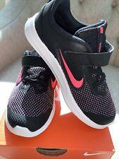 Nike Downshifter 9(TDV),Size:10C, Black Hyper Pink -White,