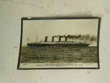 Vintage Postcard The Ill-Fated Cunard Liner Lusitania Rotary Photo Series 3563 D