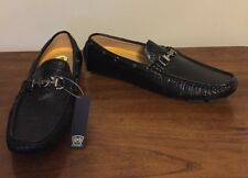 phat farm black gator print faux leather driving moccasins Size 9 NWOB