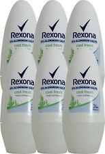 6 x 50 ml Rexona Roll-On green fresh