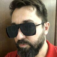 Aviator Oversize Square Gold Frame Shades Retro Design Fashion Style Sunglasses