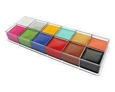 Pintura Cara y Cuerpo de paletas de Profesional Set 12 Colores Maquillaje Kit de etapa de aceite