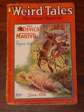 WEIRD TALES Pulp - June 1928 - H.P. Lovecraft