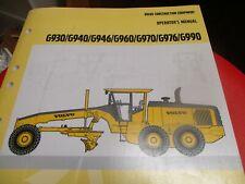 Volvo G930 G940 G946 G960 G970 G976 G990 Graders Operators Manual