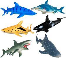 Ocean Sea Animal Figures (6 Pack) - Educational Toys - Sharks & Killer Whale
